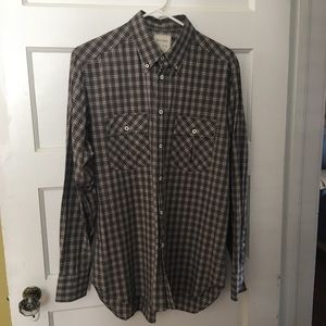 Billy Reid Button Down Plaid Shirt Casual or Dress